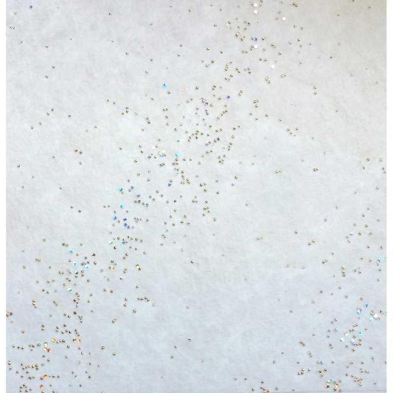 Chemin de table voie lactée blanc avec perles or 30 cm x 5 m - par 10 lots