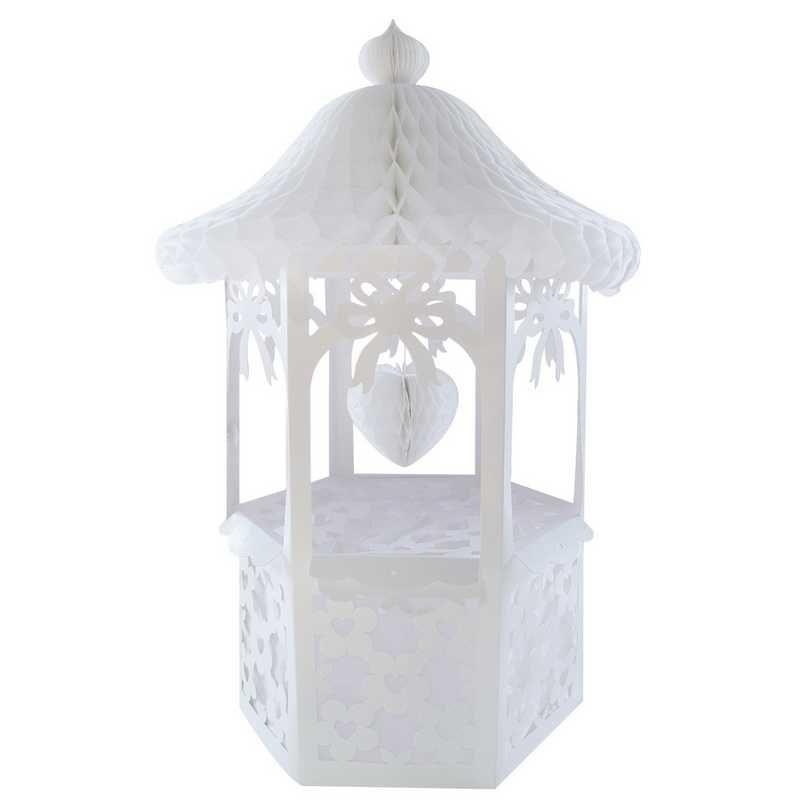 Tirelire mariage décorée blanc ht 80 cm