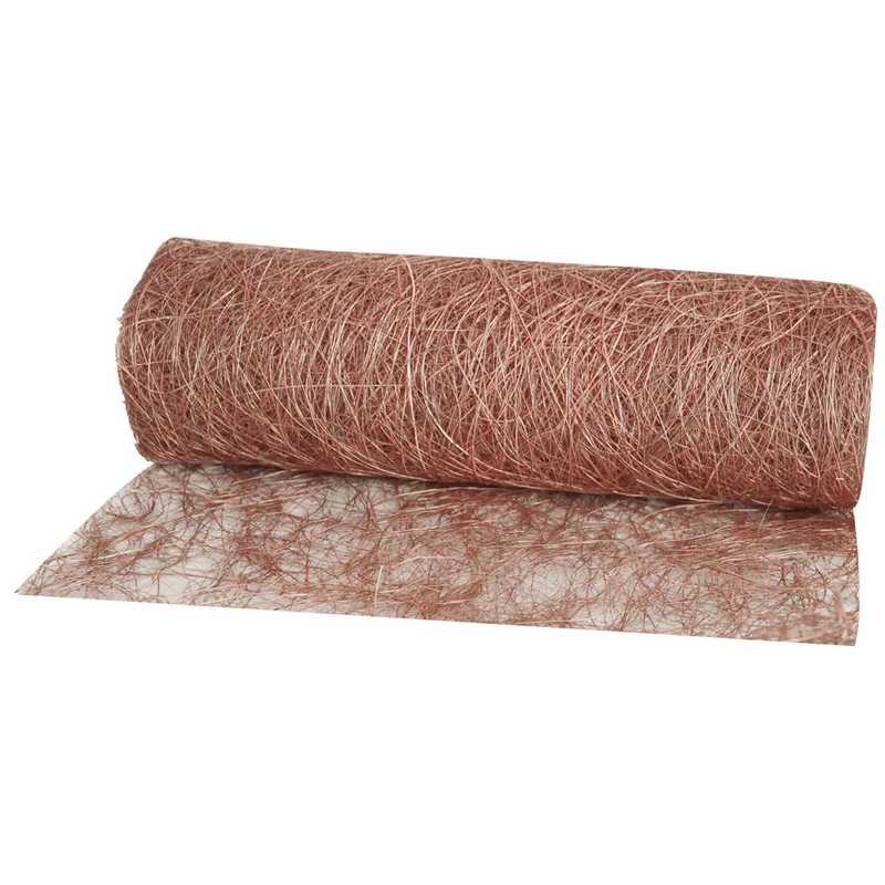 Abaca scrunch 30 cm x 5 m chocolat - par lots de 12 (photo)