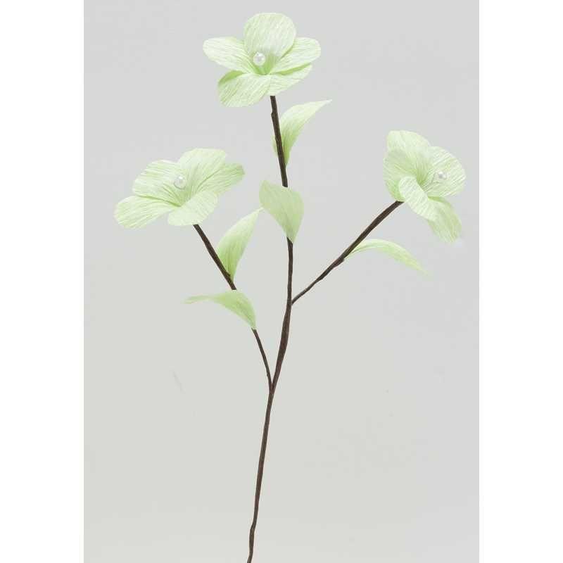 1 branchage de 3 grandes fleurs perlées anis l 35 cm larg 10 cm (photo)