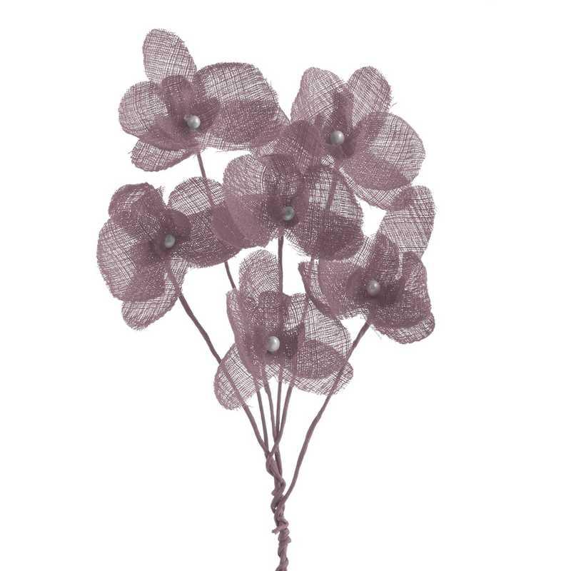 12 orchidées simples esprit lin 15 cm rose blush (photo)
