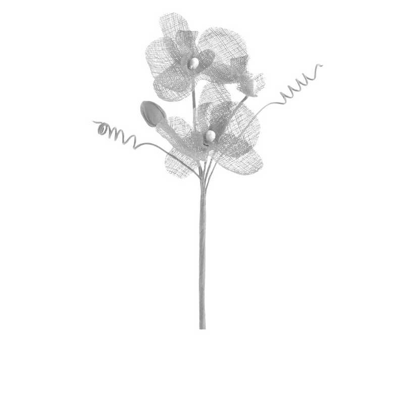 6 orchidées doubles esprit lin 15 cm neige (photo)