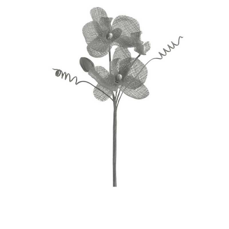 6 orchidées doubles esprit lin 15 cm tourterelle (photo)