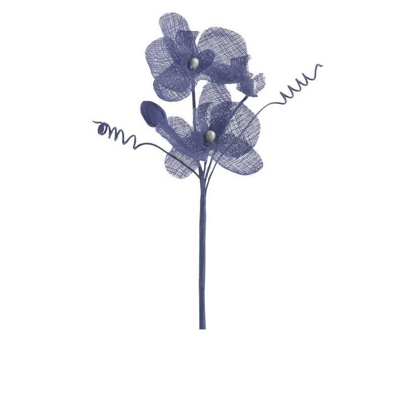 6 orchidées doubles esprit lin 15 cm bleu nuage (photo)
