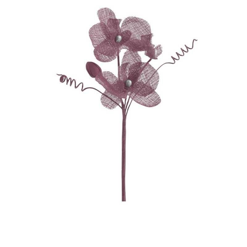 6 orchidées doubles esprit lin 15 cm rose blush (photo)
