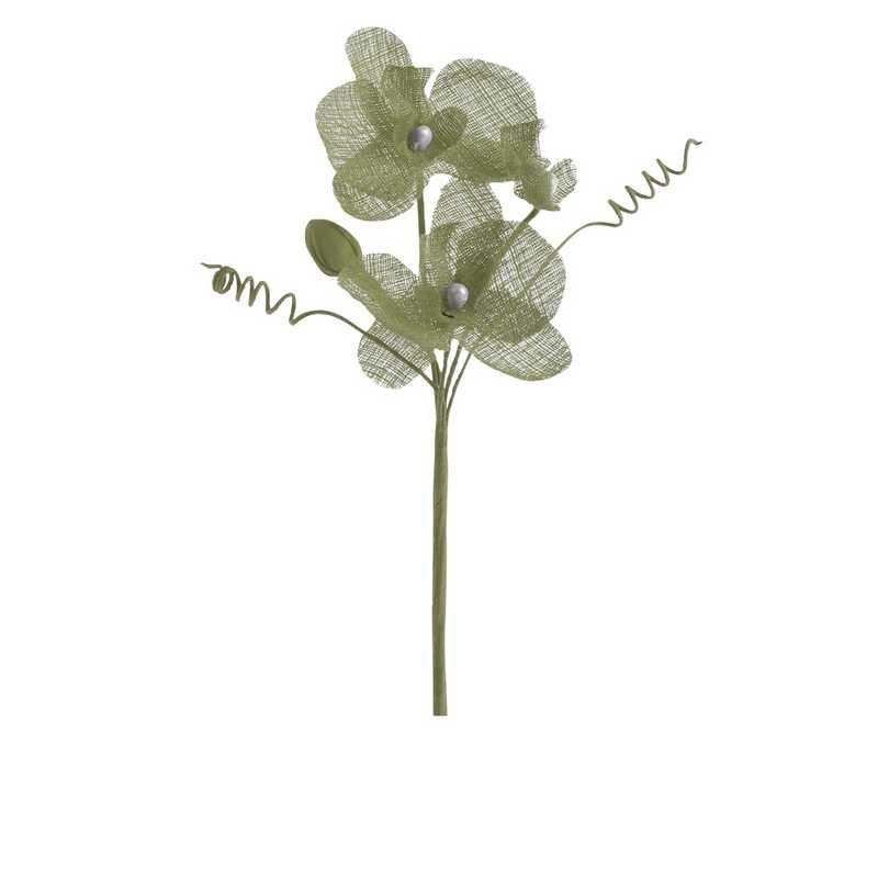 6 orchidées doubles esprit lin 15 cm vert jade (photo)