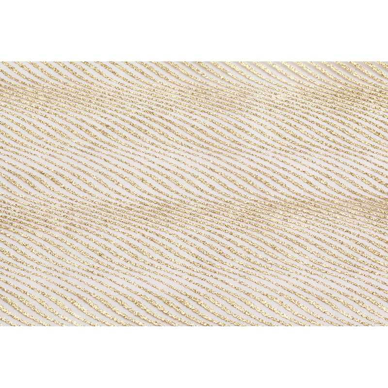 Chemin de table sable organza or pailleté 30 cm x 5 m - par 5 lots