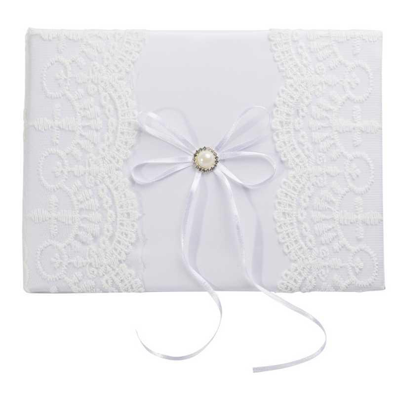 1 livre d'or mariés blanc dentelle (photo)