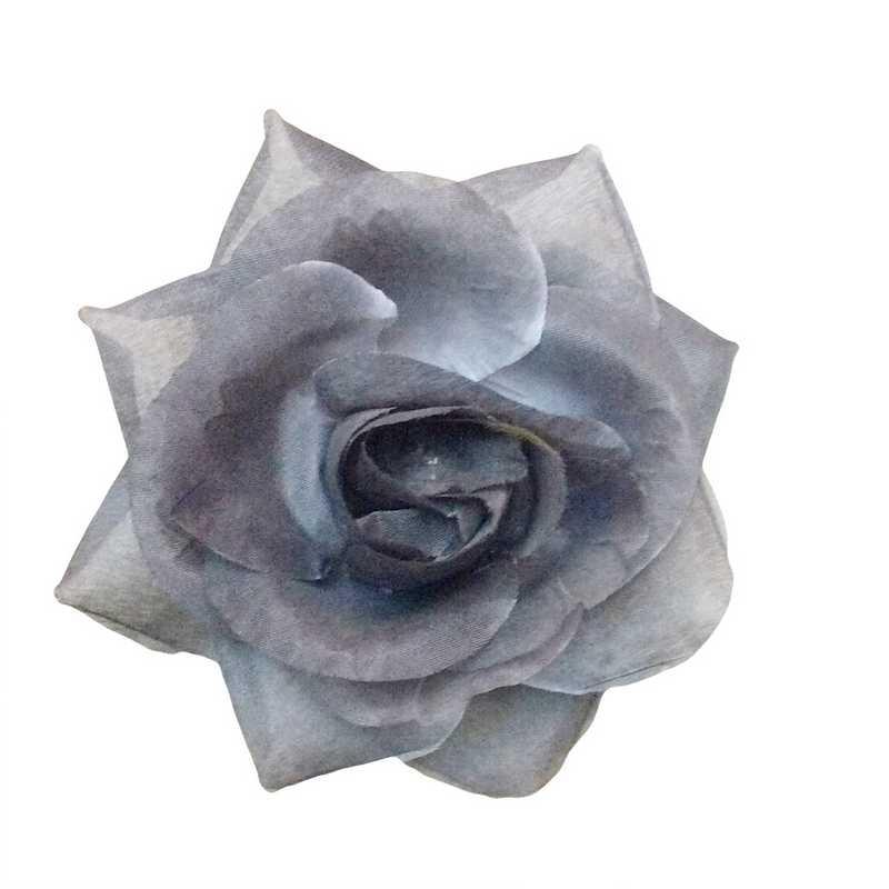 Boutons de rose tissu souris 13 cm - par 6 lots de 6