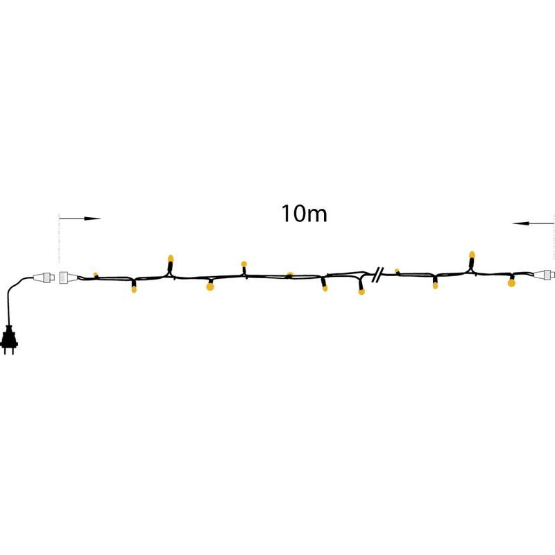 1 guirlande 10 m extension latex ip44 100 bulbes clairs 230v (photo)
