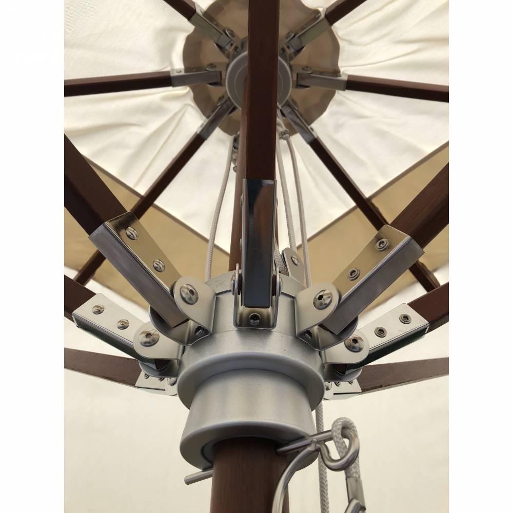 Parasol et toile écrue 3x3m new design + housse de protection (photo)