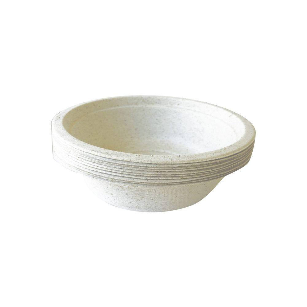 Bols a soupe bagasse & blé ø 14 cm 350 ml col naturel - par 5 lots de 50