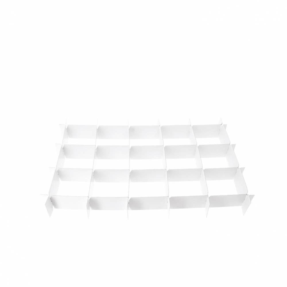 Calages croisillons carton blanc pour 15 verrines 410x280x35 mm - par 25 (photo)