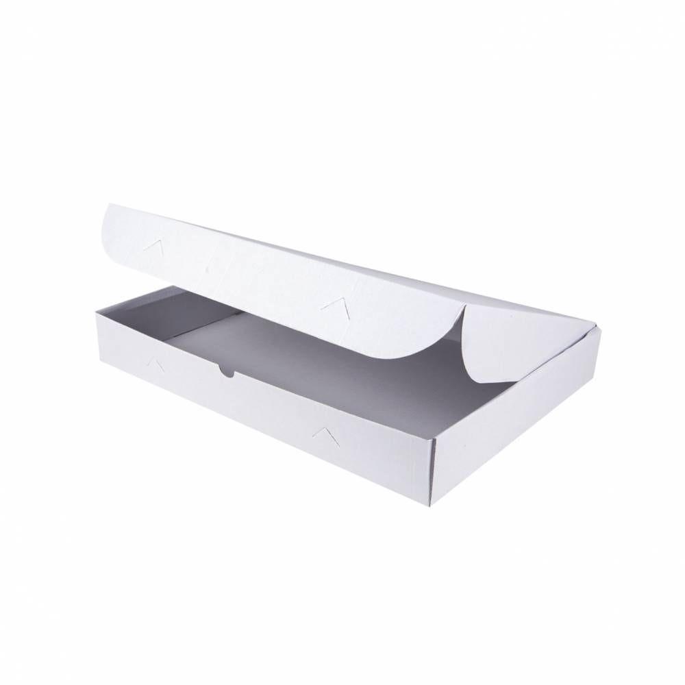 Boîtes traiteur micro canelures blanc 420x280x60 mm 420x280x60 mm - par 25 (photo)