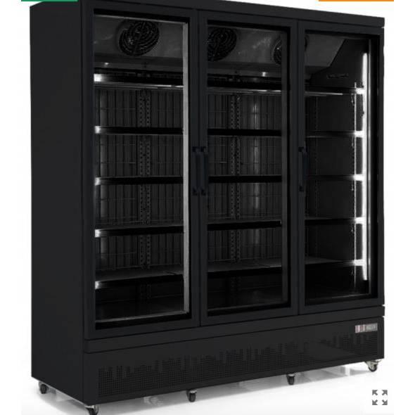 Congélateur 3 portes ouvrantes coloris noir - DEAL