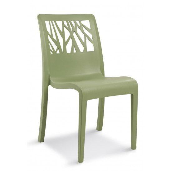 Chaise en résine de synthèse coloris vert tender grosfillex - par 17