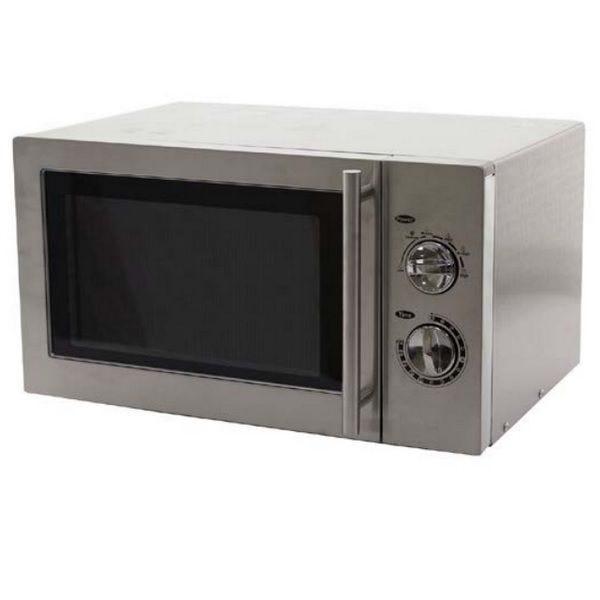 Four micro-ondes intérieur et extérieur en inox d'une capacité de 23 litres (photo)