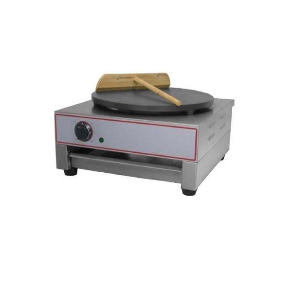 Crêpière électrique de diamètre 400 mm sur châssis carré en acier inox (photo)
