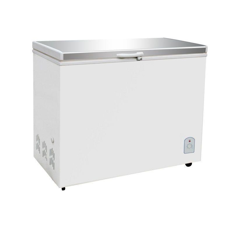 Congélateur bahut avec couvercle en inox capacité 260 litres (photo)