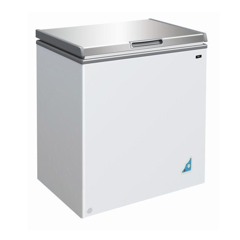 Congélateur bahut avec couvercle en inox capacité 148 litres (photo)