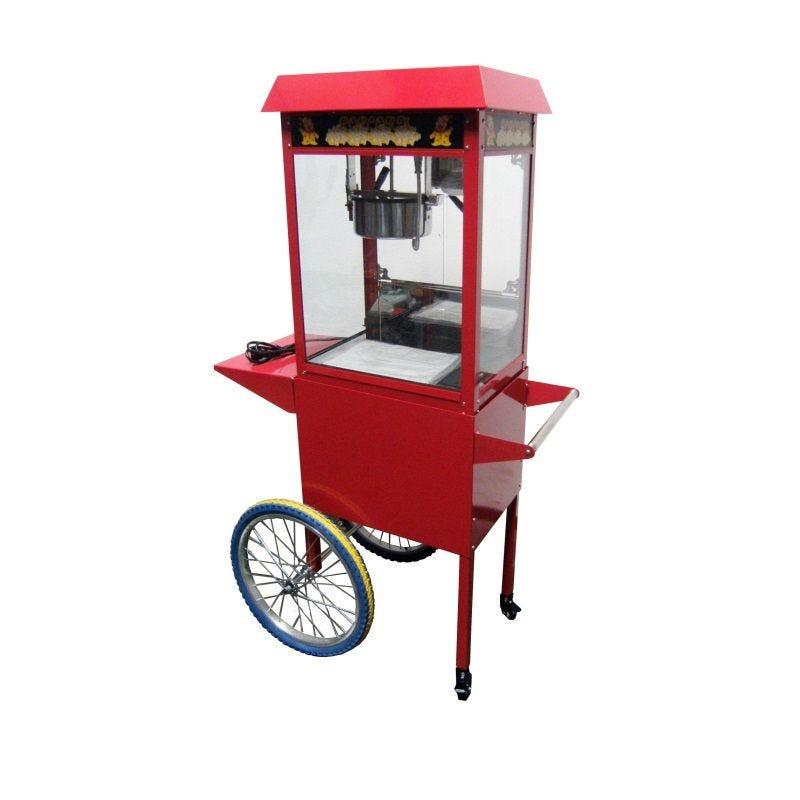 Machine à popcorn avec socle sur roulettes avec lampe infrarouge (photo)