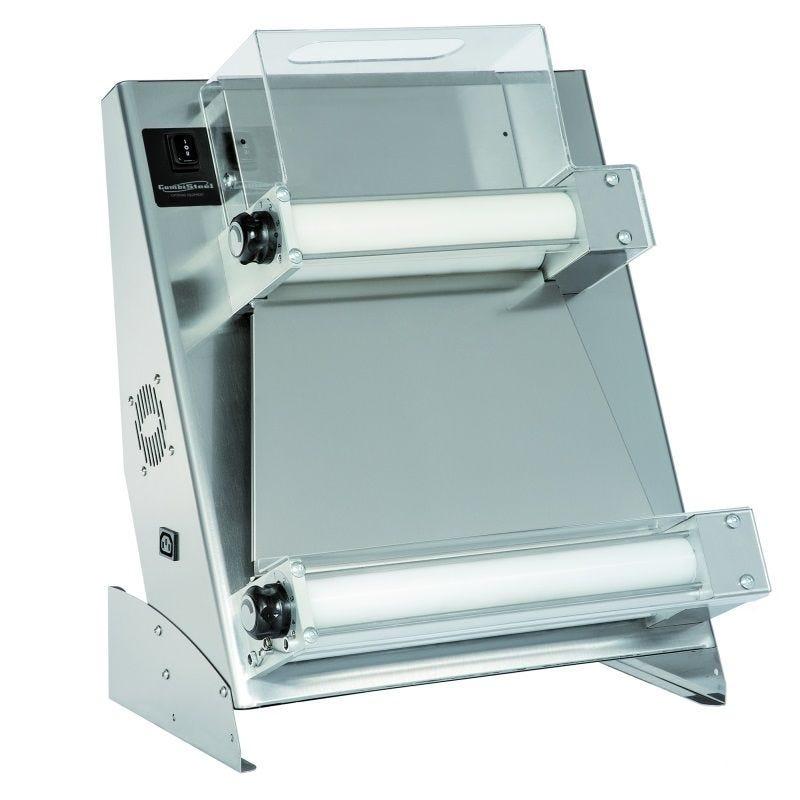 Façonneuse à pizzas diamètre 40 cm max double rouleau et protection plexiglass (photo)