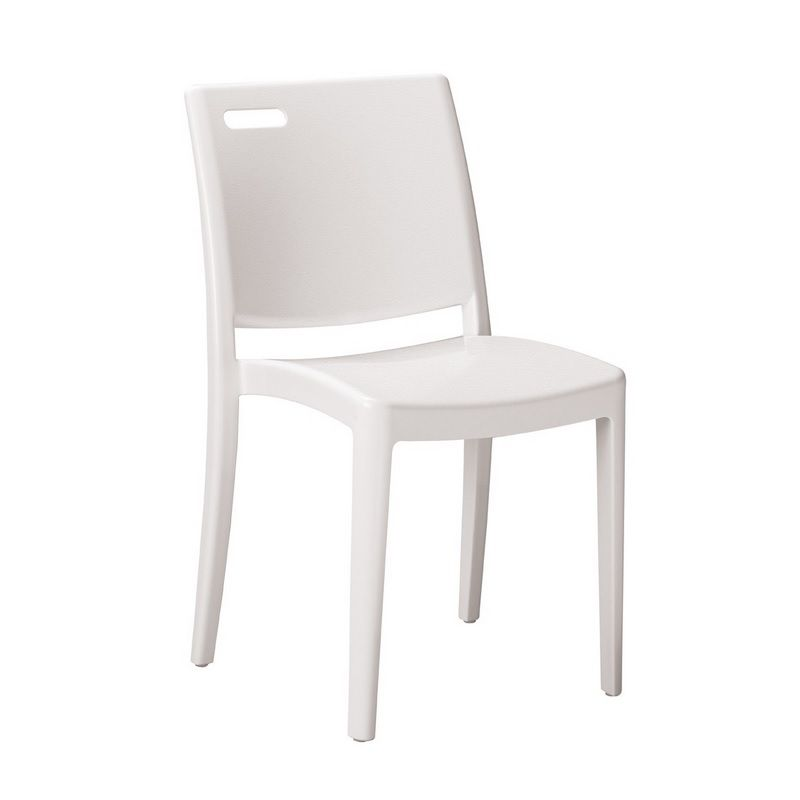 Chaise en polypropylène coloris blanc grosfillex - par 21 (photo)