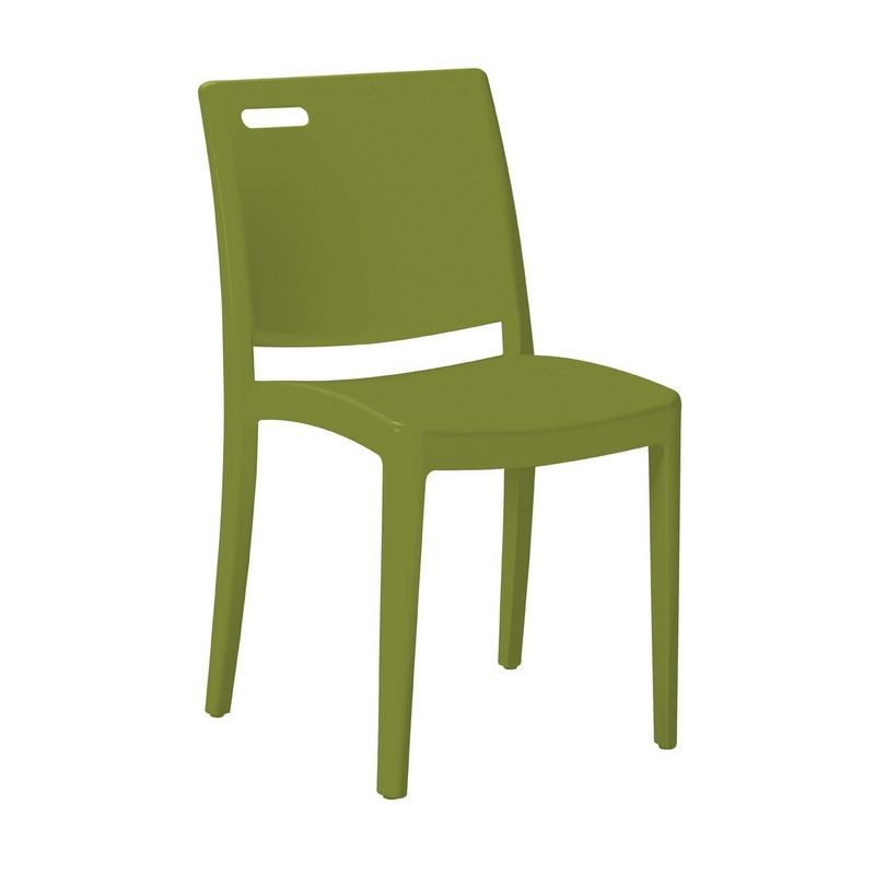 Chaise en polypropylène coloris vert grosfillex - par 21 (photo)