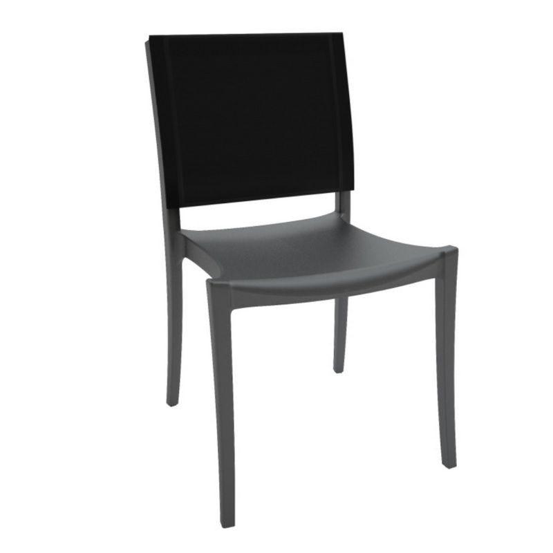 Chaise avec assise en polypropylène et dossier en polyester grosfillex - par 11 (photo)