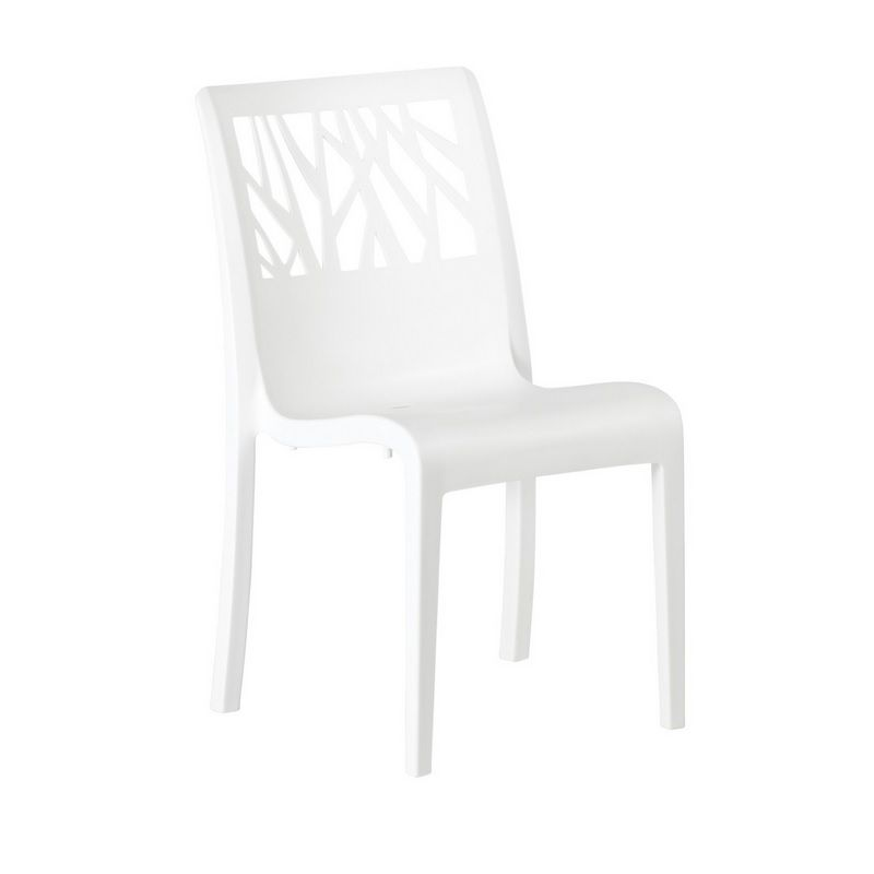 Chaise en résine de synthèse blanc glacier grosfillex - par 17 (photo)
