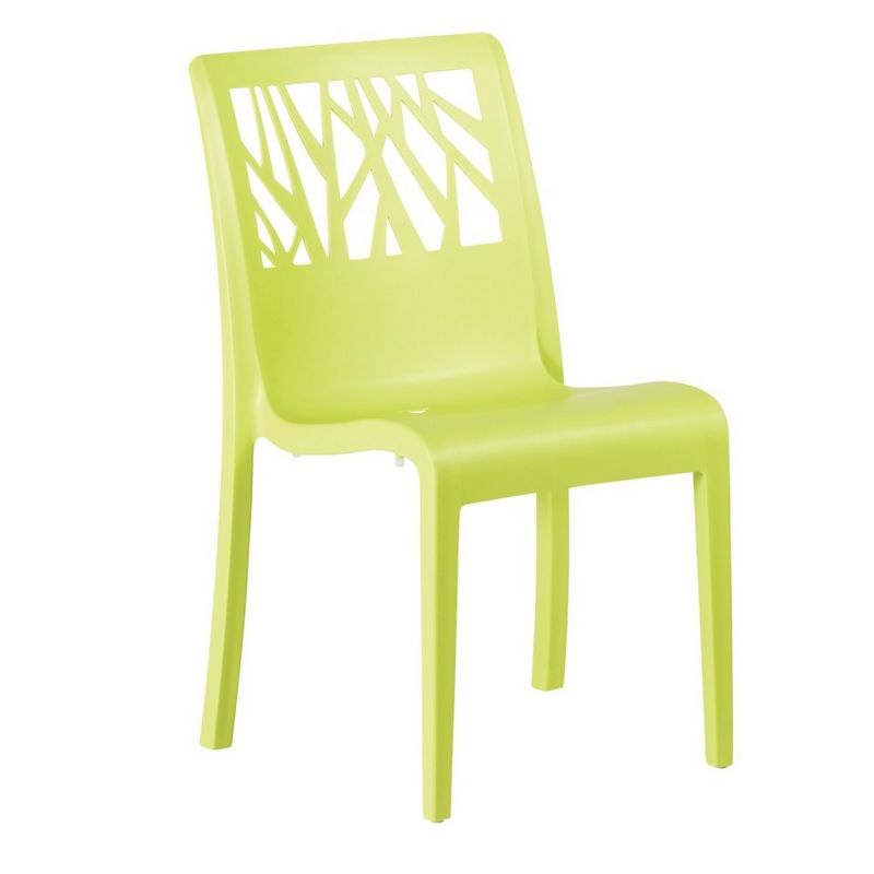 Chaise en résine de synthèse coloris vert anis grosfillex - par 17 (photo)