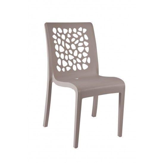 Chaise coloris bronze pieds en aluminium grosfillex - par 16 (photo)