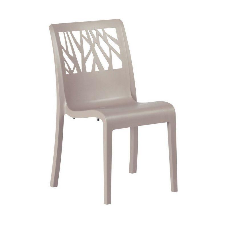 Chaise en résine de synthèse coloris lin grosfillex - par 17 (photo)