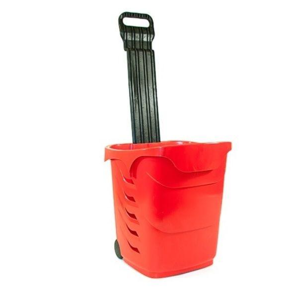 Panier à roulettes d'une capacité de 38 litres coloris orange - par 5 (photo)
