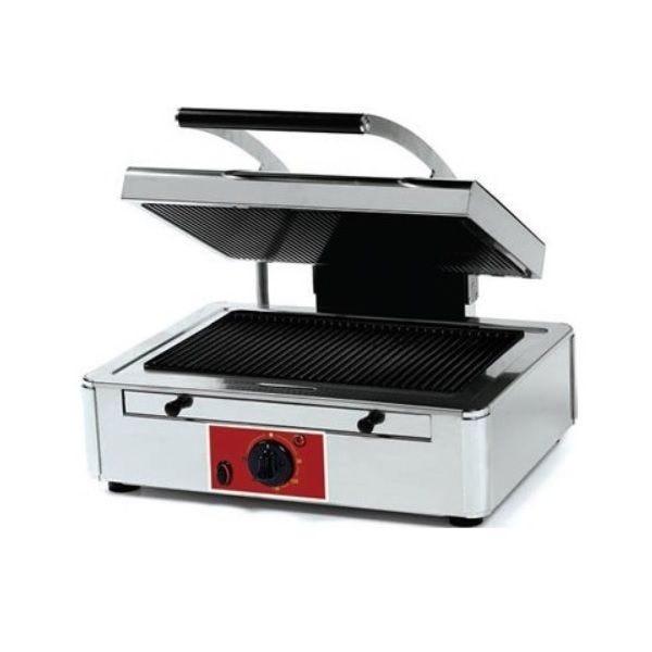 Appareil à panini plaques «duplex technology> rainurée– modèle large (photo)