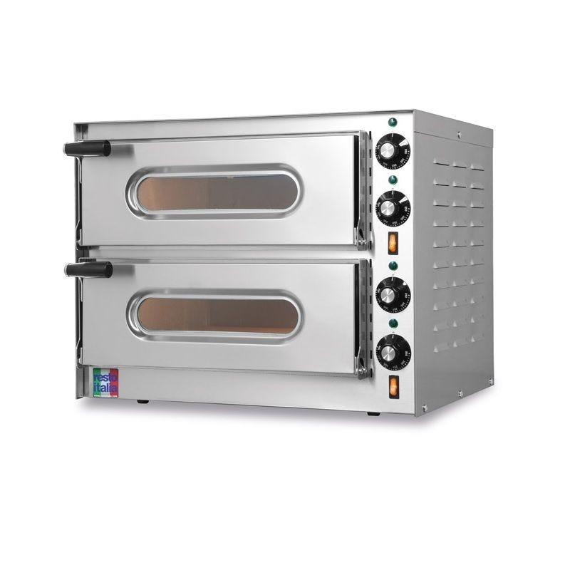 Four à pizzas électrique en acier inox pour 2 pizzas – resto italia