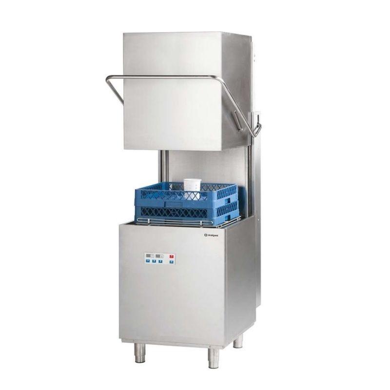 Lave-vaisselle à capot panier 500 x 500 mm avec commandes électroniques