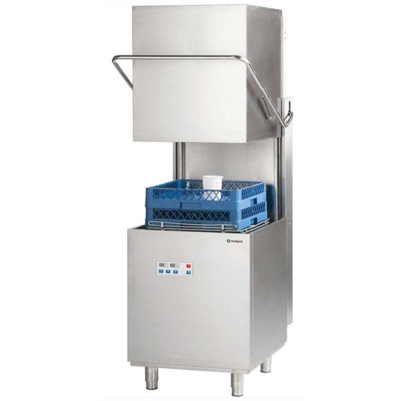 Lave-vaisselle à capot 500x500 mm à commande électronique avec pompe de vidange