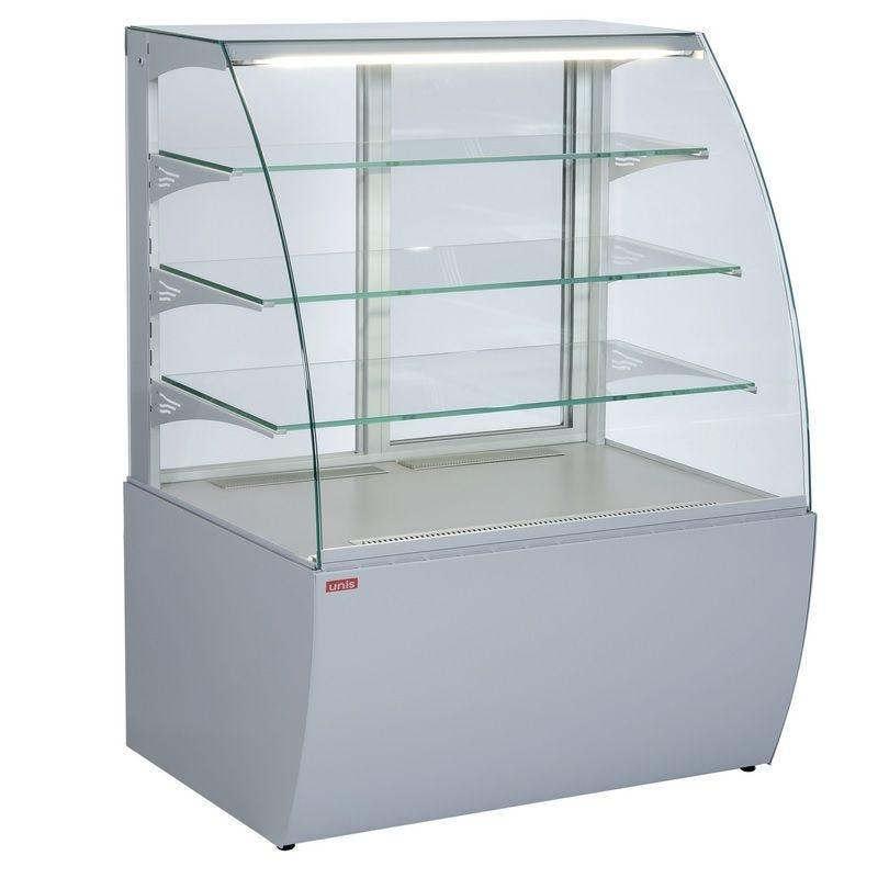 Vitrine réfrigérée de comptoir avec service arrière froid positif ventilé
