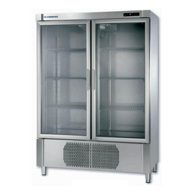 Armoire réfrigérée vitrée à double porte froid négatif ventilé 980 litres (photo)