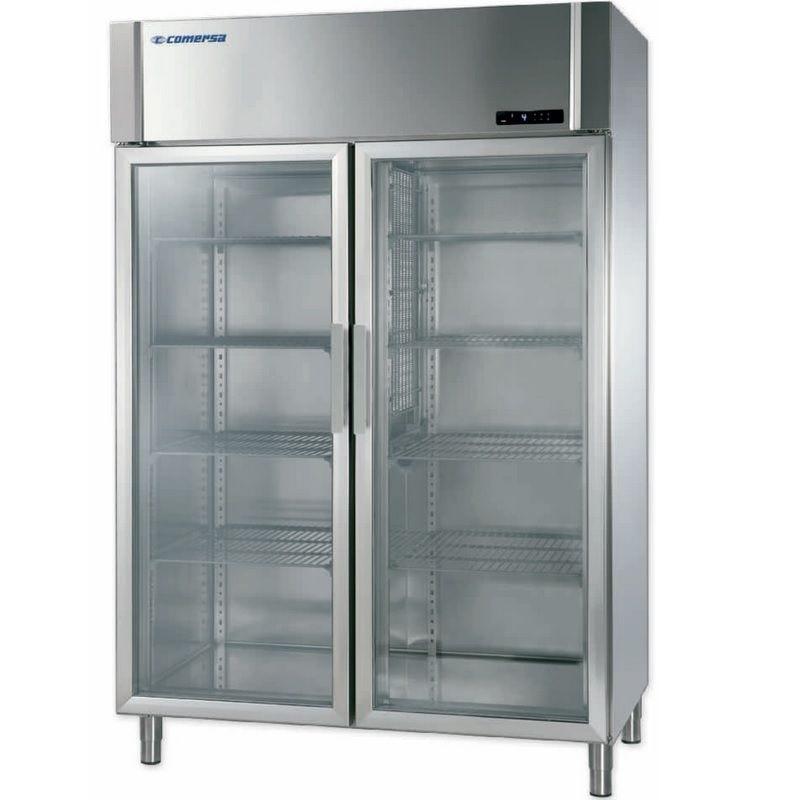 Armoire réfrigérée négative à double porte vitrée froid ventilé (photo)