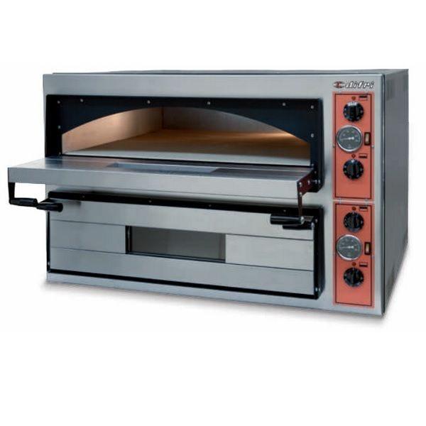 Four à pizza électrique avec plaques réfractaires 2 chambres 12 pizzas de 34 cm