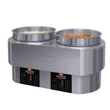 Marmite 3en1 : cuit remise en température et maintien au chaud 2 bacs de 10 l (photo)