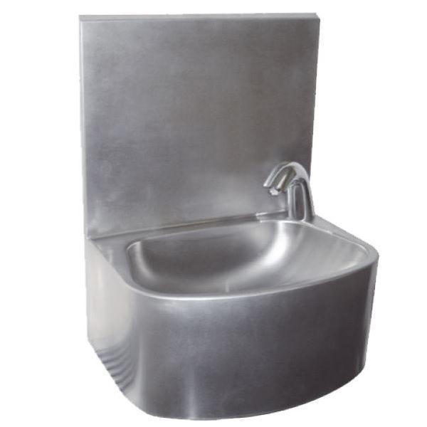 Lave-mains inox électronique sans distributeur de savon