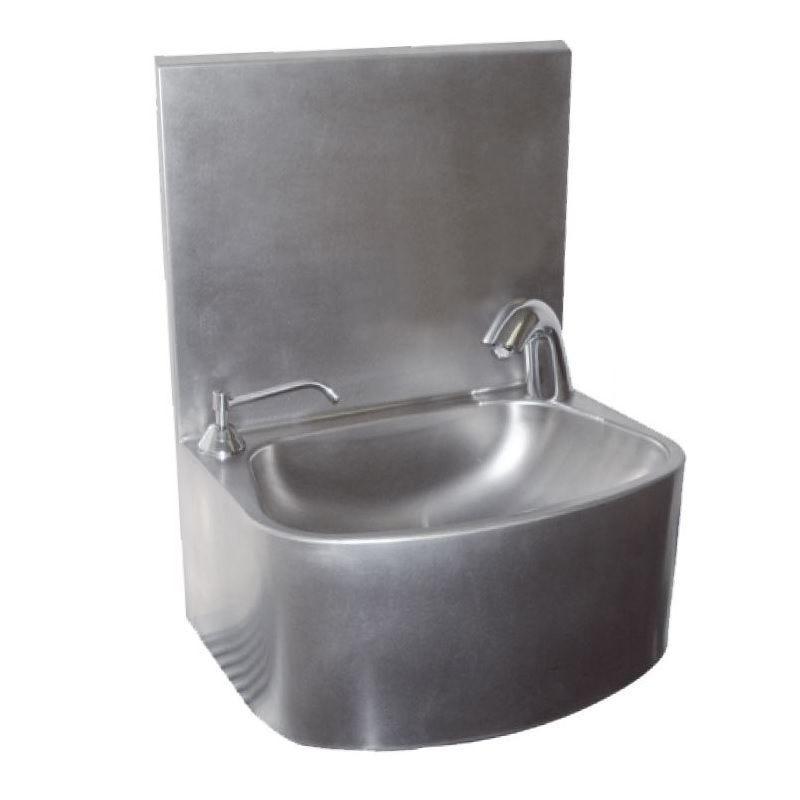 Lave-mains inox électronique avec distributeur de savon