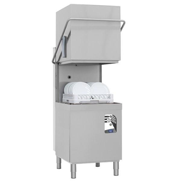 Lave-vaisselle à capot sans pompe de vidange panier 500 x 500 mm