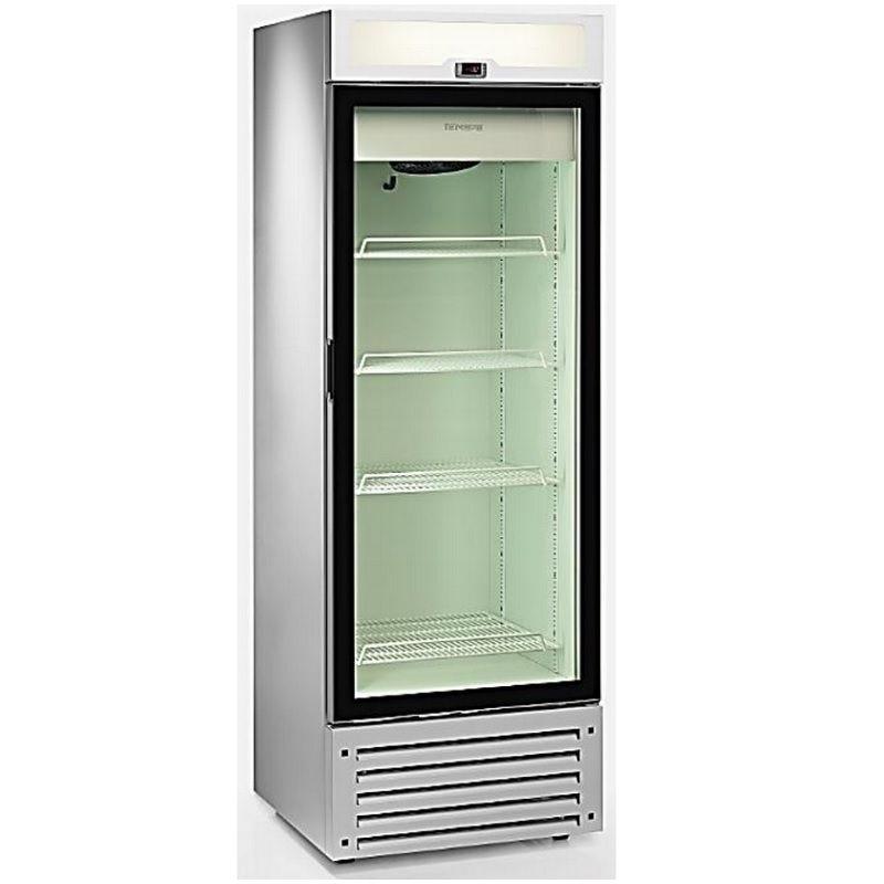 Vitrine réfrigérée 500 litres froid ventilé avec éclairage vertical double led (photo)