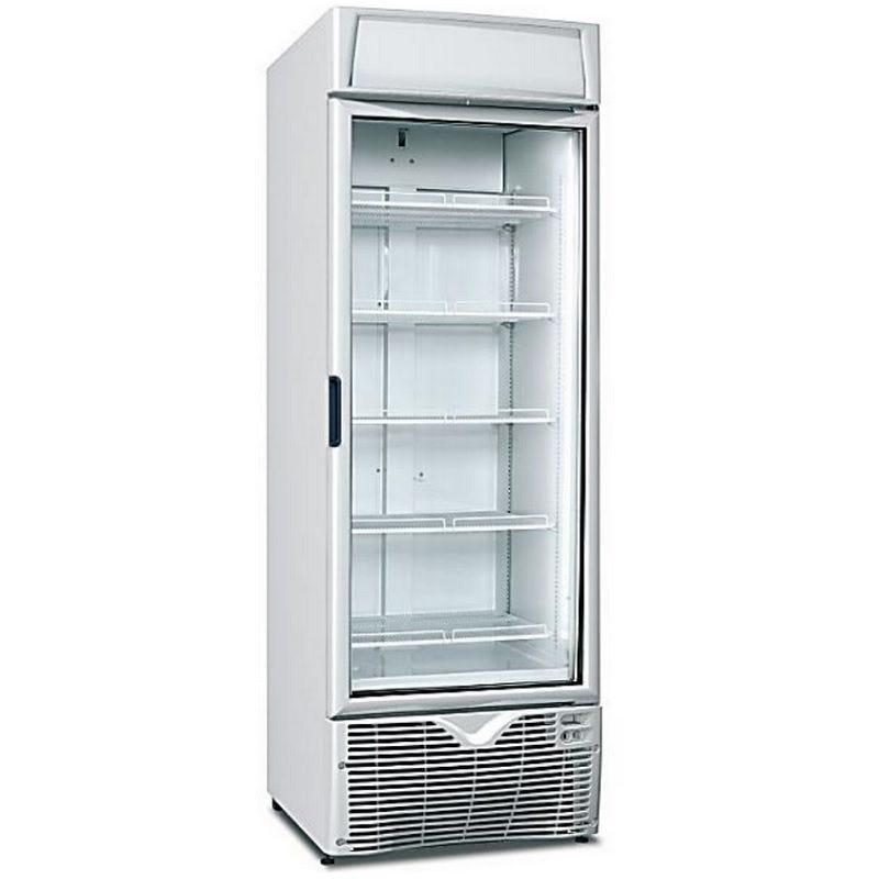 Vitrine réfrigérée 472 litres froid ventilé avec 1 porte vitrée et éclairage (photo)