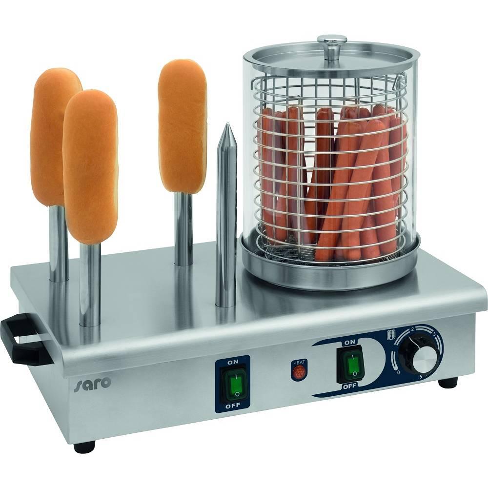 Appareil à hot-dogs électrique 4 chauffe-pains - température réglable - saro (photo)