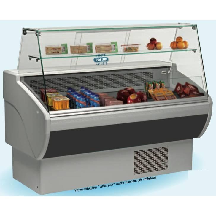 Vitrine réfrigérée compacte p 80 cm en froid statique l 1m30 avec réserve